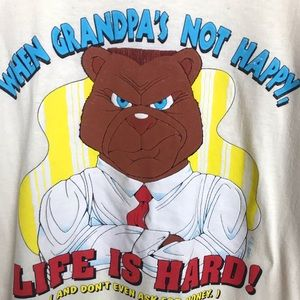 Vintage When Grandpa's Not Happy Novelty T-Shirt